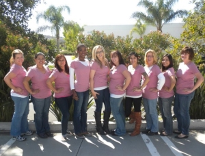 Ovation Hair group at San Diego Race for the Cure