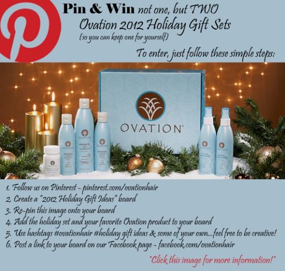 2012 Ovation Holiday Gift Set Pinterest Contest