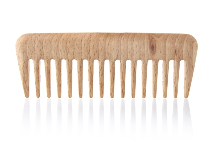Use a wide tooth comb for thicker hair